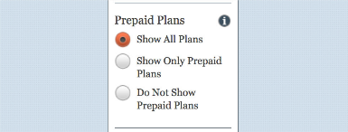 Step 9 - Select to view prepaid plans
